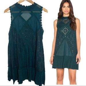Free People FP One Angel Lace Pleated Dress Size L